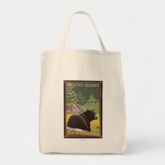 Black Bear in Forest - Mount Adams, Washington Tote Bag