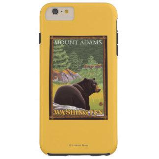 Black Bear in Forest - Mount Adams, Washington Tough iPhone 6 Plus Case