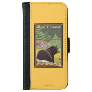 Black Bear in Forest - Mount Adams, Washington Wallet Phone Case For iPhone 6/6s