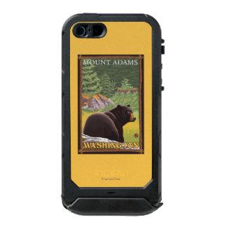 Black Bear in Forest - Mount Adams, Washington Waterproof iPhone SE/5/5s Case