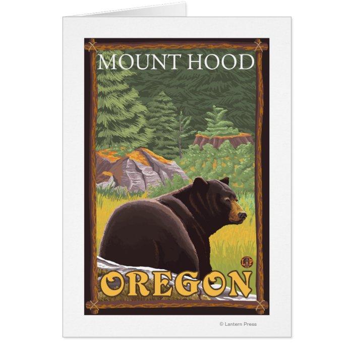 Black Bear in Forest - Mount Hood, Oregon Card