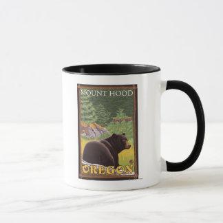 Black Bear in Forest - Mount Hood, Oregon Mug