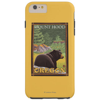 Black Bear in Forest - Mount Hood, Oregon Tough iPhone 6 Plus Case