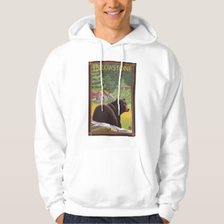 Black Bear in Forest - Yellowstone National Park Hoodie