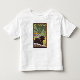 Black Bear in Forest - Yellowstone National Park Tshirts
