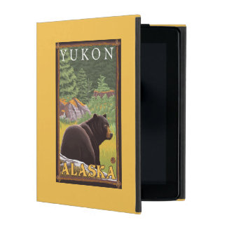 Black Bear in Forest - Yukon, Alaska iPad Cover