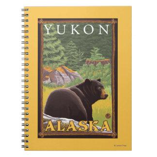 Black Bear in Forest - Yukon, Alaska Spiral Notebook