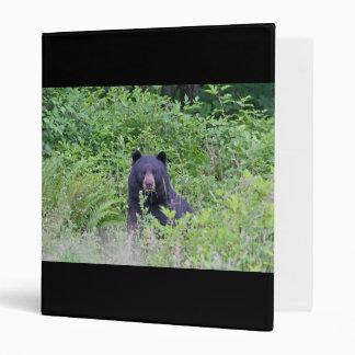 Black Bear in the Woods 3 Ring Binder