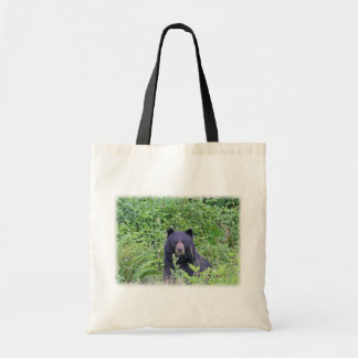 Black Bear in the Woods Canvas Bag