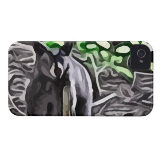Black Bear in the woods painting iPhone 4 Covers