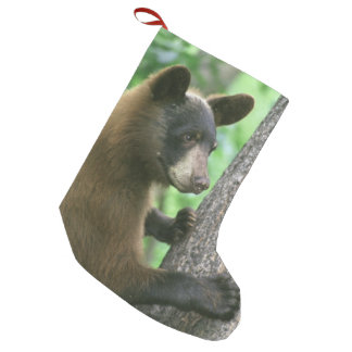 Black Bear in The Woods Small Christmas Stocking