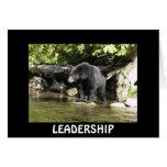 Black Bear LEADERSHIP Motivational Card