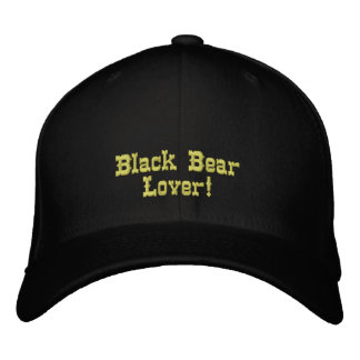 BLACK BEAR LOVER Embroidered Cap