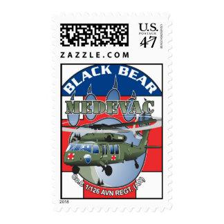 Black Bear Medivac logo Postage