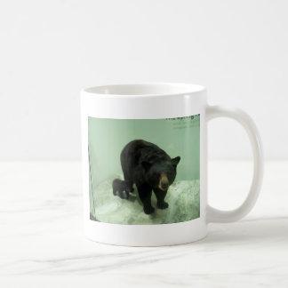 Black bear mom and cub coffee mug