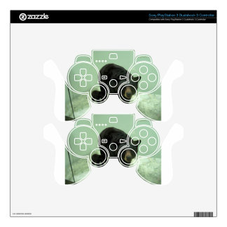 Black bear mom and cub PS3 controller skin