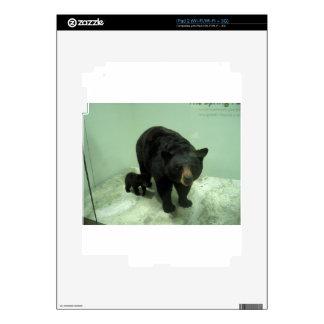Black bear mom and cub iPad 2 decal