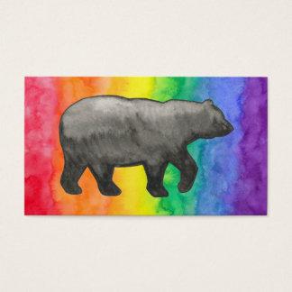 Black Bear on Rainbow Wash Business Card