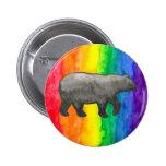 Black Bear on Rainbow Wash Buttons