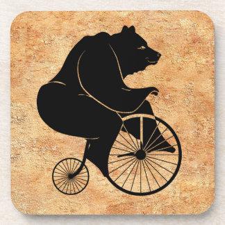 Black Bear on Vintage Bike Coaster