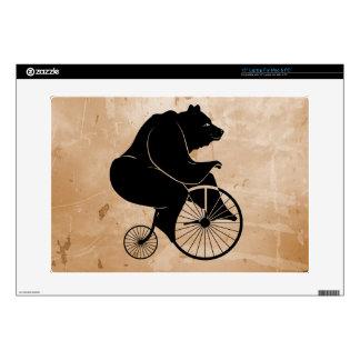Black Bear on Vintage Bike Decals For Laptops