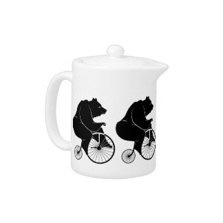 Black Bear on Vintage Bike Teapot