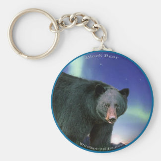 BLACK BEAR Painting Basic Round Button Keychain