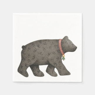 Black Bear Paper Napkin