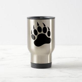 Black bear Paw 15 Oz Stainless Steel Travel Mug