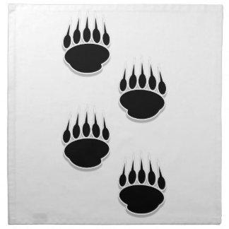 Black Bear Paw Prints Cloth Napkin