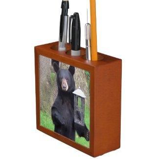 Black Bear Pencil Holder