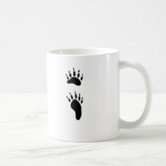 black bear print coffee mug