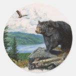 Black Bear Ridge Round Sticker