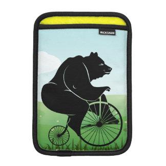 Black Bear Riding Vintage Bike iPad Mini Sleeve