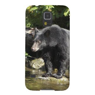 "Black Bear ""Salmon Spotting"" Wildlife Phone Case Galaxy S5 Case"
