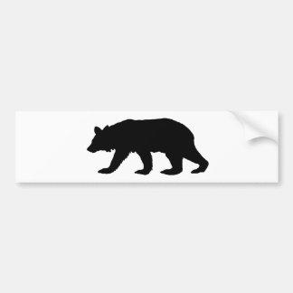 Black Bear Silhouette Bumper Sticker