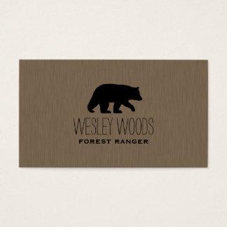Black Bear Silhouette Business Card