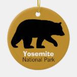 Black Bear Silhouette Christmas Tree Ornaments
