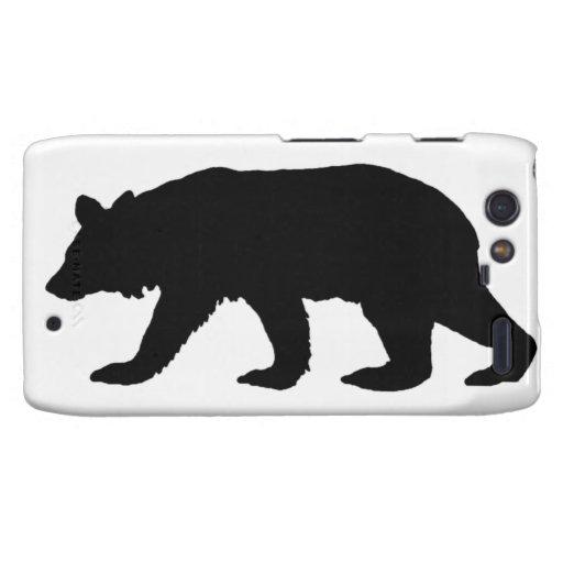 Black Bear Silhouette Droid RAZR Case
