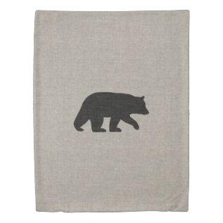 Black Bear Silhouette Duvet Cover at Zazzle