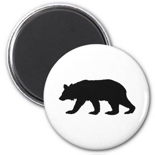 Black Bear Silhouette Fridge Magnet
