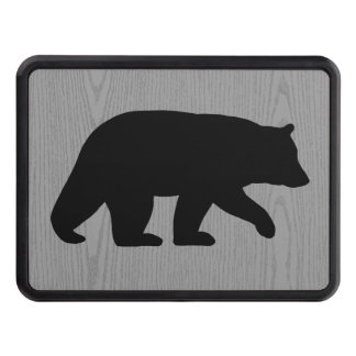 Black Bear Silhouette Hitch Cover