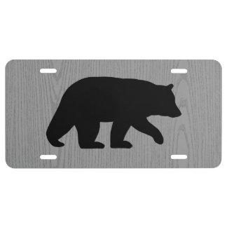 Black Bear Silhouette License Plate