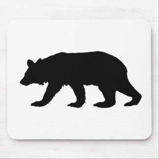 Black Bear Silhouette Mouse Pad