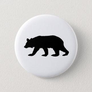 Black Bear Silhouette Pinback Button