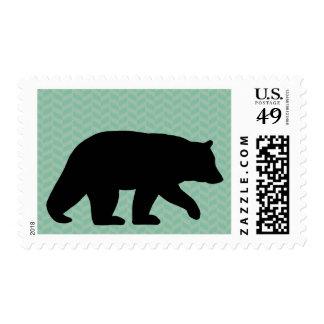 Black Bear Silhouette Postage
