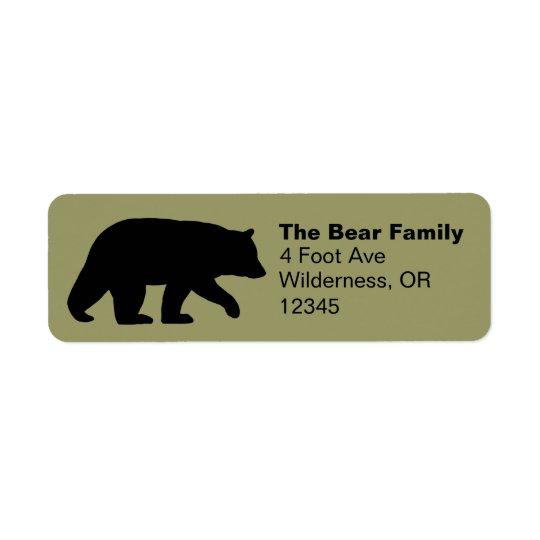 black bear silhouette return address labels zazzle com