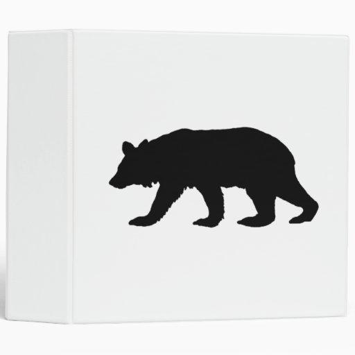 Black Bear Silhouette Vinyl Binder
