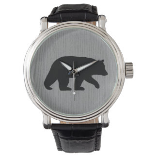 Black Bear Silhouette Watches