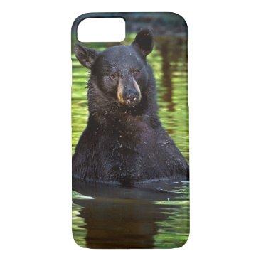 Black Bear Sitting In A Stream iPhone 8/7 Case